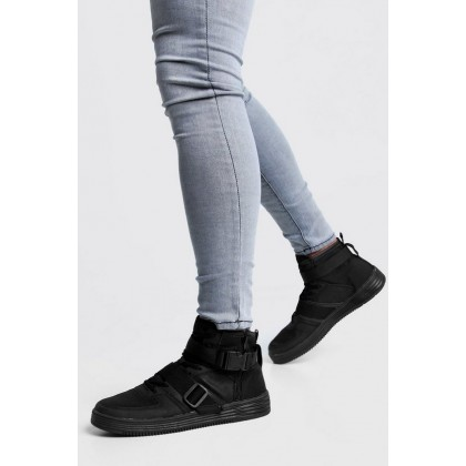 Buckle Detail Hi Top in Black