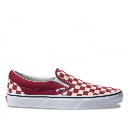 Slip On Checkerboard Rumba Red/White (Checkerboard) Rumba Red/True White