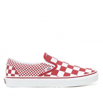 Slip On Mix Checker Chilli Pepper/True White (Mix Checker) Chili Pepper/True White