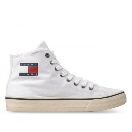 TJM Denim High Top White