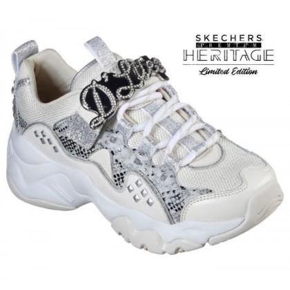 Women's Skechers Premium Heritage: D'Lites 3.0 - Flashy Stud Natural/Silver