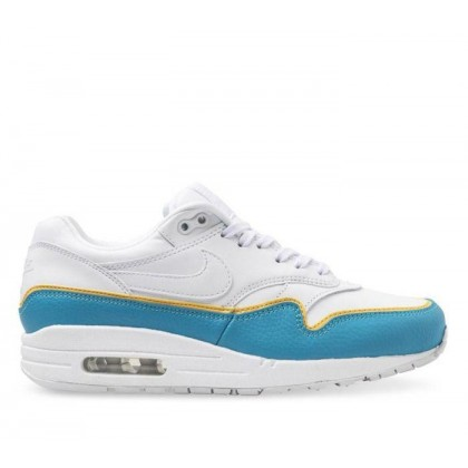 Womens Air Max 1 SE White/White-Lt Blue Fury-Topaz Gold