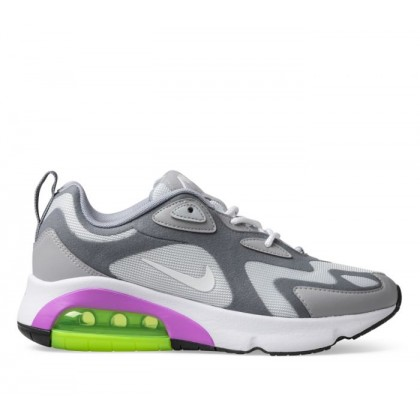Womens Air Max 200 Pume Platinum/White-Cool-Grey-Wolf-Grey
