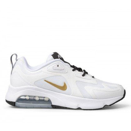 Womens Air Max 200 White/Metallic Gold-Black
