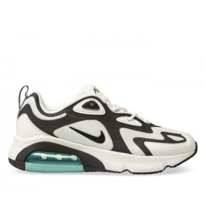 Womens Air Max 200 Summit White/Black-Aurora Grn