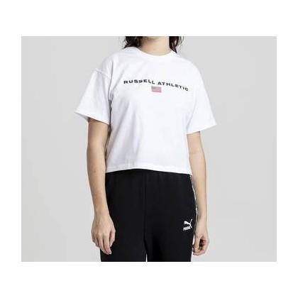 Womens Athletic Boxy Logo Tee