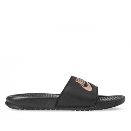 Womens Benassi JDI Black/Rose Gold