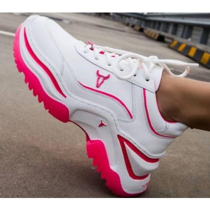 Womens Chaos White Neon Pink