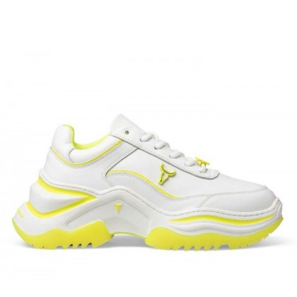 Womens Chaos White Neon Yellow