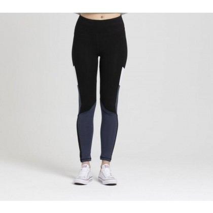 Womens Fashion Legging Blk + Mid Blue