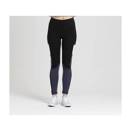 Womens Fashion Legging Blk + Mid Blue