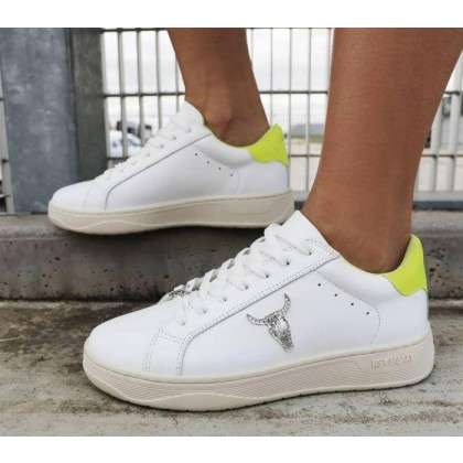 Womens Galaxy White Neon Yellow