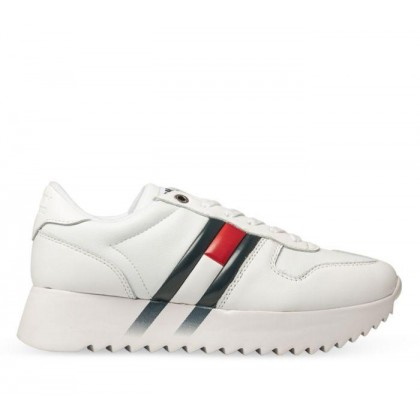 Womens High Cleated Corporate White