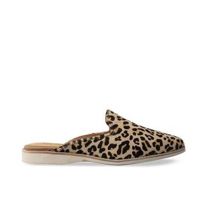 Womens Madison Mule Leopard Camel Leopard