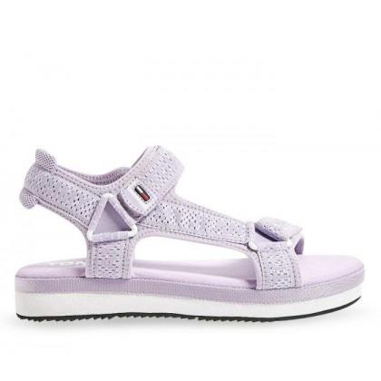 Womens Mesh Webbing Sporty Sandal Pastel Lilac