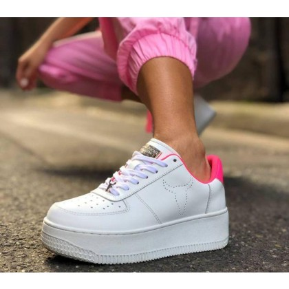 Womens Rich White/Pink