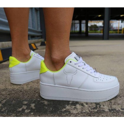 Womens Rich White/Yellow