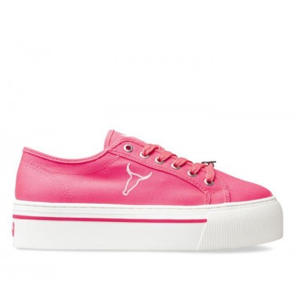 Womens Ruby Ruby Neon Pink Canvas