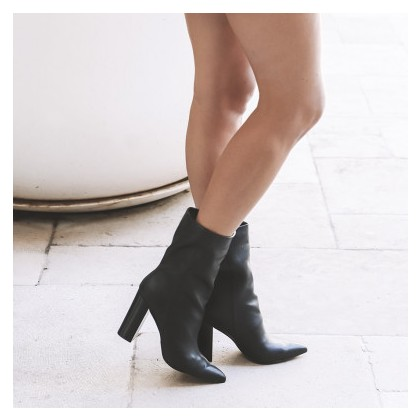 Ponyboy - Black Soft Calf by Siren Shoes