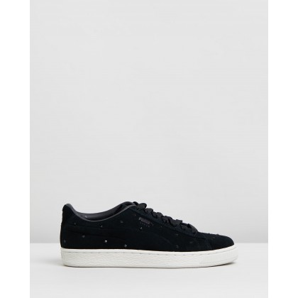 Suede Studs - Women's Puma Black & Marshmallow by Puma