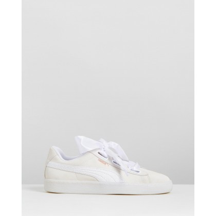 Suede Heart Artica - Women's Puma White by Puma