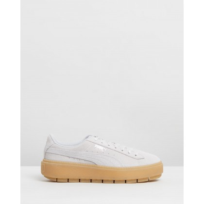 Platform Trace Emboss Sneakers - Women's Gray Violet & Puma White by Puma