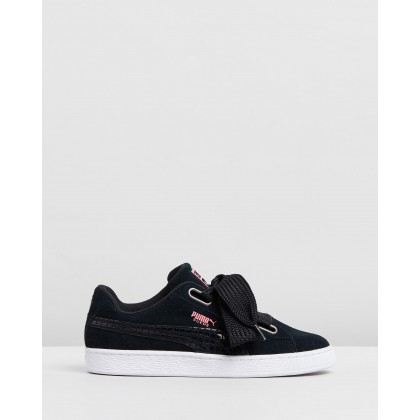 Suede Heart Street 2 - Women's Puma Black by Puma