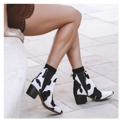 Puzzle - Black/White Pony by Siren Shoes
