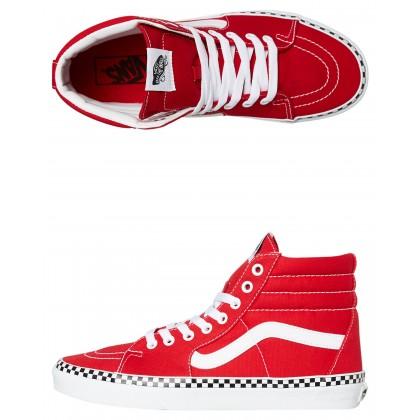 Womens Sk8 Hi Shoe Racing Red