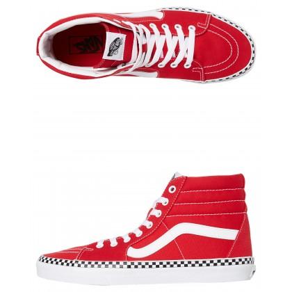 Womens Sk8 Hi Shoe Red