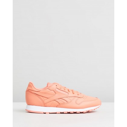 Classic Leather - Women's Stellar Pink & White by Reebok