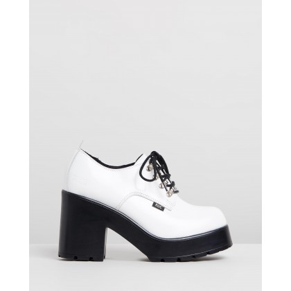 Mayhem White Patent Leather by Roc Boots Australia