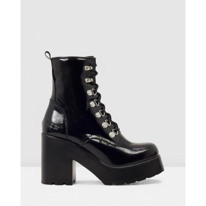 Mission Black Patent Leather by Roc Boots Australia