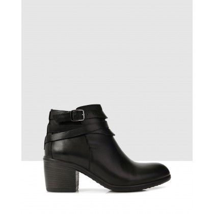 Leda Ankle Boots Black by S By Sempre Di