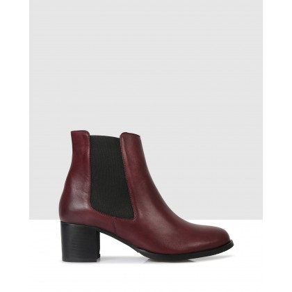 Hanna Ankle Boots Bordeaux by S By Sempre Di