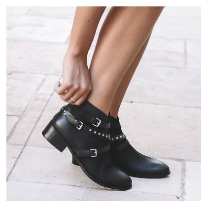 Samuel - Black Matte Leather by Siren Shoes