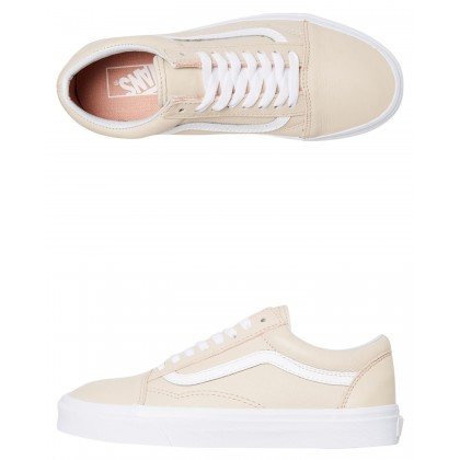 Womens Old Skool Leather Shoe Sand Dollar