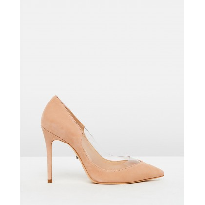 Transparent Insert Pumps Nude by Schutz