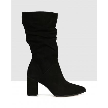 Firmina Mid Calf Boots Black by Sempre Di