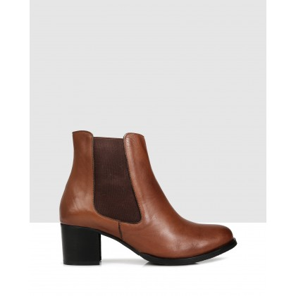 Hanna Ankle Boots Brown by Sempre Di