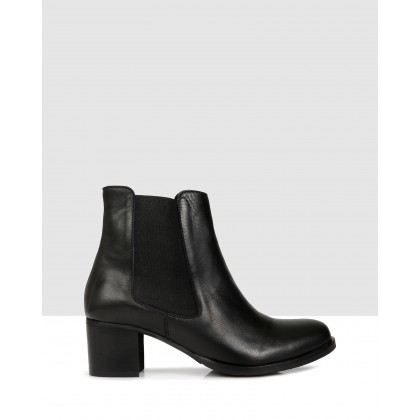 Hanna Ankle Boots Black by Sempre Di
