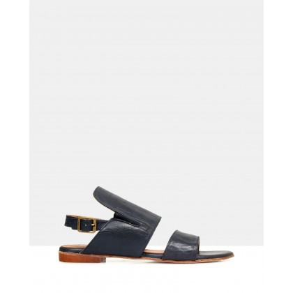 Sloane Leather Sandals BLU 218 by Sempre Di