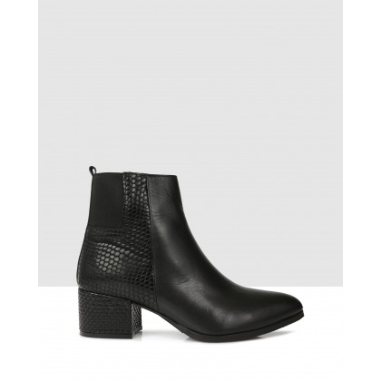 Loretta Ankle Boots Black by Sempre Di