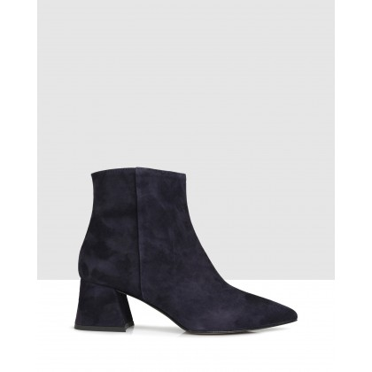 Janet Ankle Boots Navy by Sempre Di
