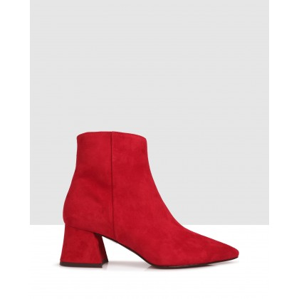Janet Ankle Boots Rosso by Sempre Di