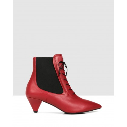 Filiz Ankle Boots 200 Red by Sempre Di