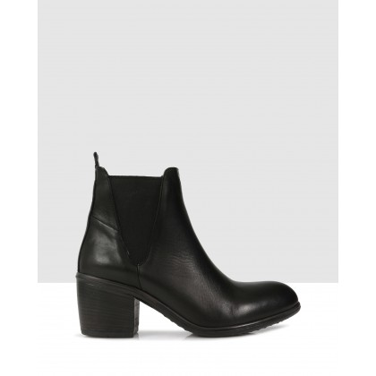 Lenora Ankle Boots Black by Sempre Di