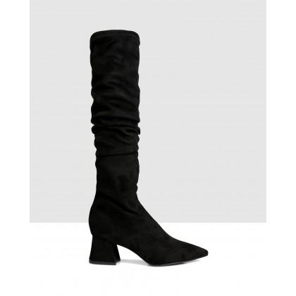 Lexi Over The Knee Boots Nero by Sempre Di