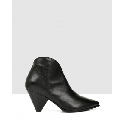 Lane Ankle Boots Nero by Sempre Di