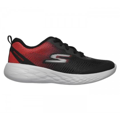 Black/Red - Boys' Skechers GOrun 600 - Haddox